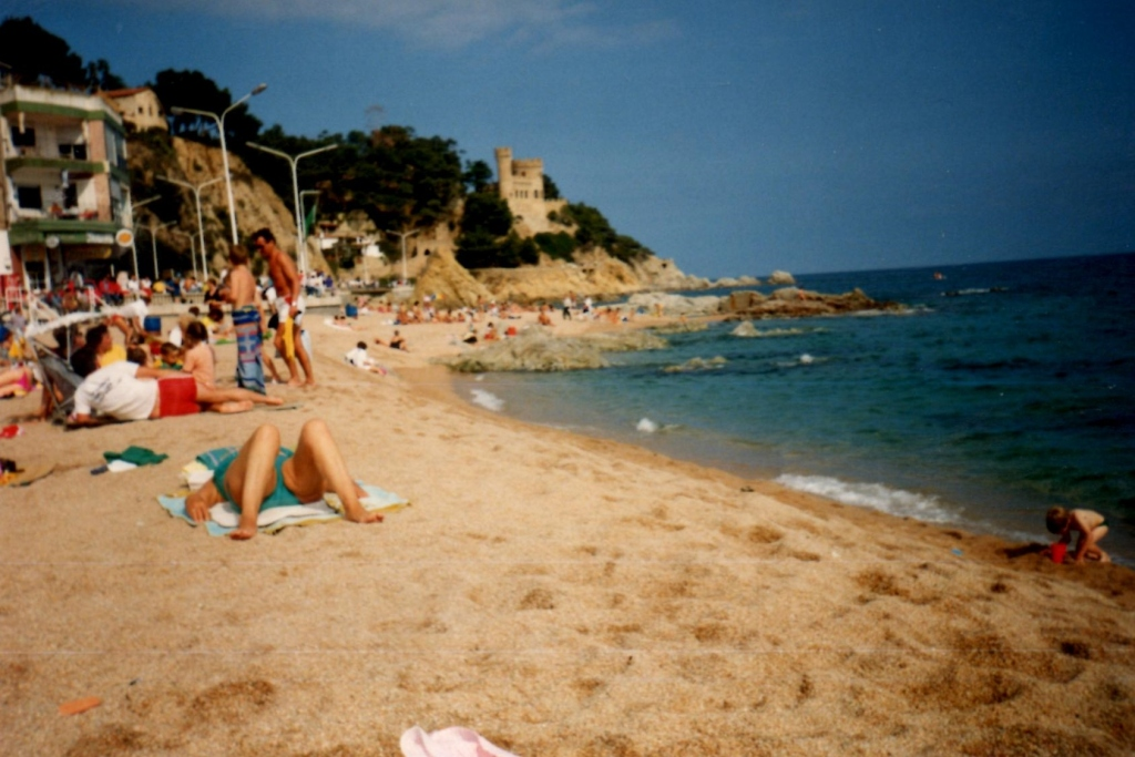 LLanfranch beach on the Costa Brave, Spain