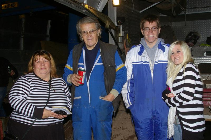 Many years later, Mandy , Ray and family at Coventry