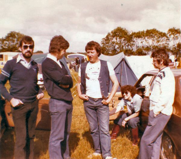 Brafield with LtoR Colin Herridge, Stu Ralls, Me, Maureen and Alan Russell
