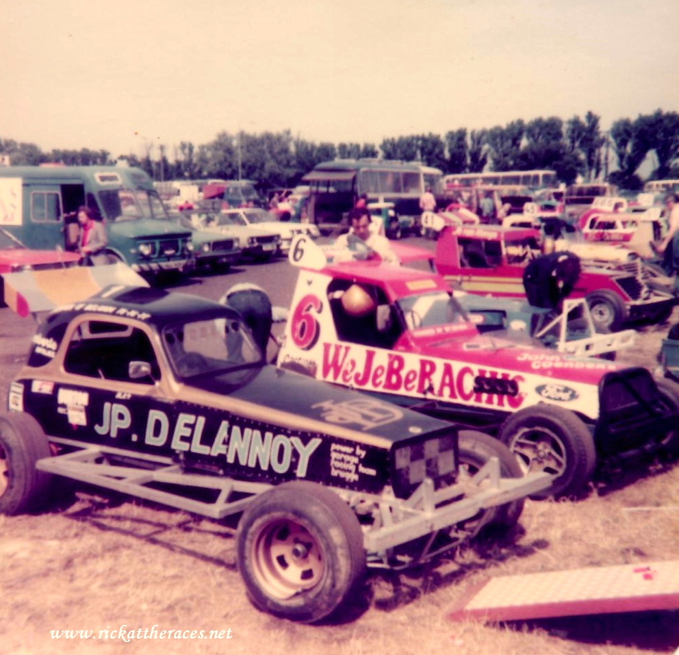 Gt Yarmouth pits on Superstox World Final day 1979