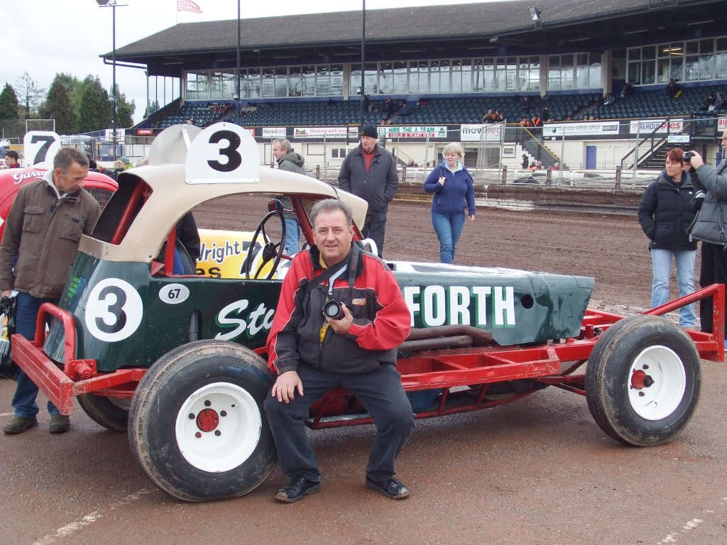 The Bamforth World Final winning car at a heritage get together , many years later at Coventry